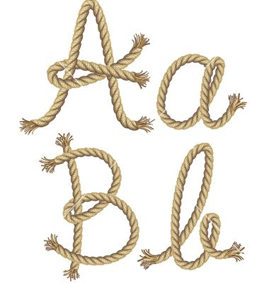 Rope alphabet vector 1092696 - by graphixmania on VectorStock®