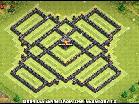 Clash of Clans - Epic TH9 Farming Base (4 mortars) - YouTube
