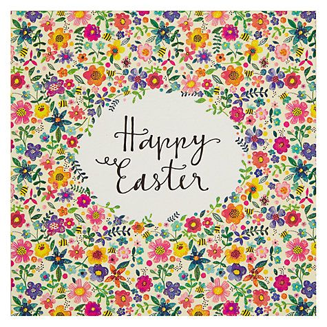 Buy Rachel Ellen Happy Easter Floral Card Online at johnlewis.com