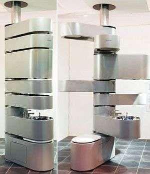 Vertebrae Vertical Bathroom #smallspaceorganization #smallspacedecor trendhunter.com