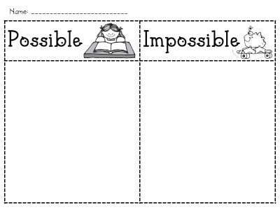 Possible/impossible sort - intro to probability