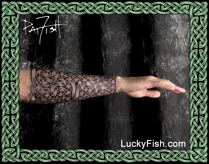 Celtic Knotwork Tattoo Gauntlet by Pat Fish