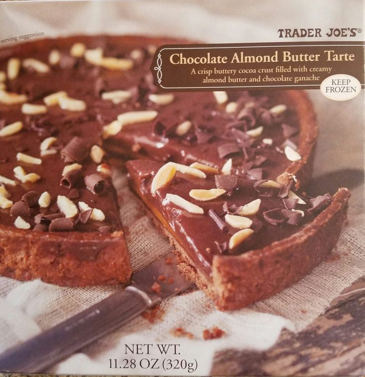 Trader Joe's Chocolate Almond Butter Tarte is chocolatey without being too chocolatey. Best of all with an hour of defrosting it's a quick dessert.