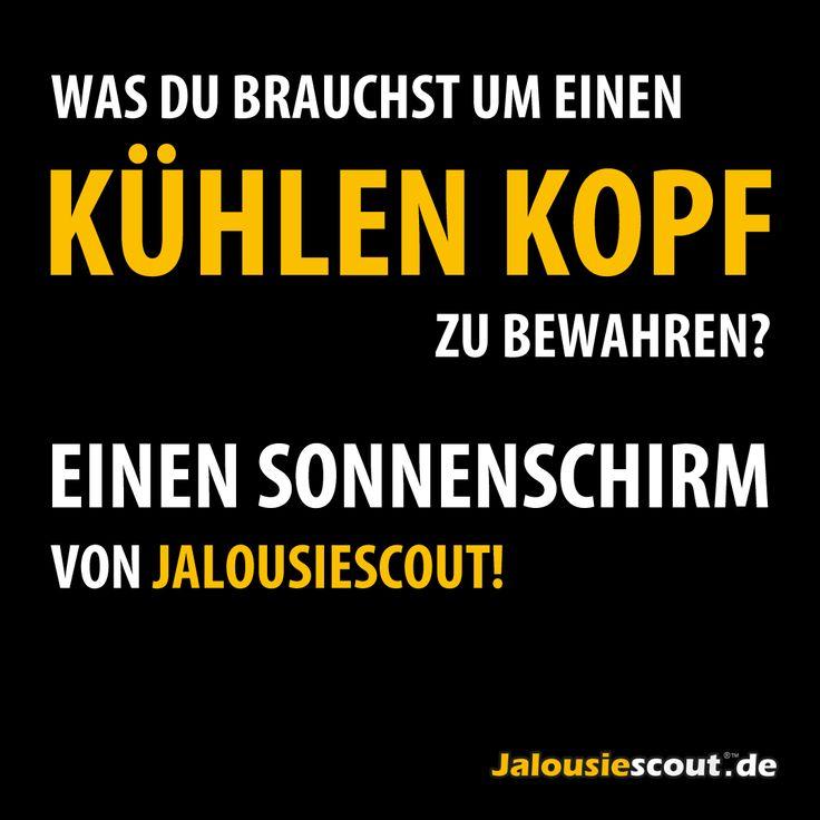 Jalousiescout Sonnenschirm Humor Spruch Spr Che