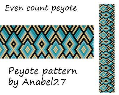 Peyote pattern beadwork peyote cuff bead by Anabel27shop