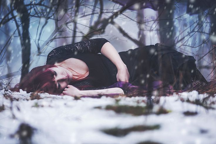 """From """"Walking with strangers""""; 2014 #photography #conceptual #fantasy #mood #forest #winter"""