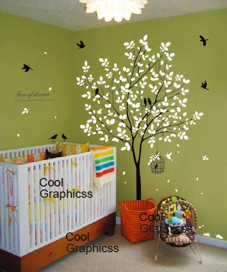 wall decal tree wall sticker office wall decal by coolgraphicss, $67.00
