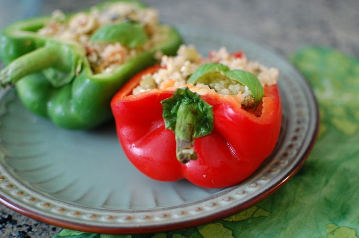 Olive and Quinoa stuffed peppers | Food | Pinterest