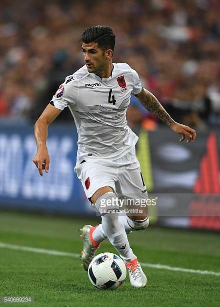 Elseid Hysaj of Albania in action during the UEFA Euro 2016 Group A match between France and Albania at Stade Velodrome on June 15 2016 in Marseille...