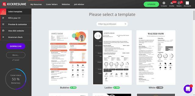 Make Resume Online - CV Maker (makeresumeonline) on Pinterest