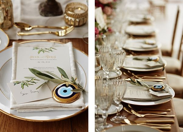 "treat your guests with a traditional wedding favour. Offer them the "" evil eye"" so the bad vibes stay away. Golden details wedding 