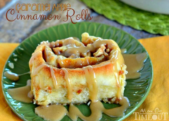Caramel Apple Cinnamon Rolls - Mom On Timeout