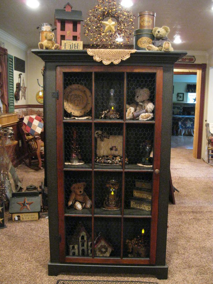 Captivating Grubby Primitive Cabinet