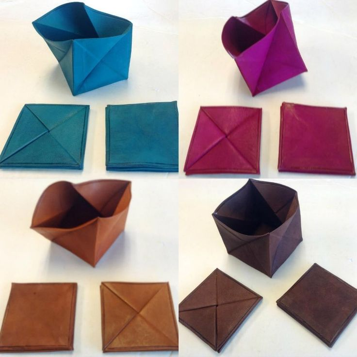 Moroccan Leather Folding Money Pouch