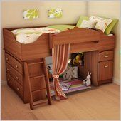 South Shore Imagine Kids Wood Loft Bunk Bed in Morgan Cherry Finish - 3576A3