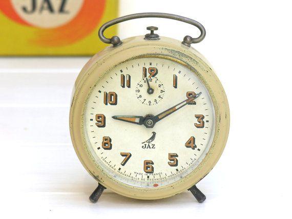 1940 SHABBY CHIC Antique french Alarm Clock  by myfrenchycottage, $70.00