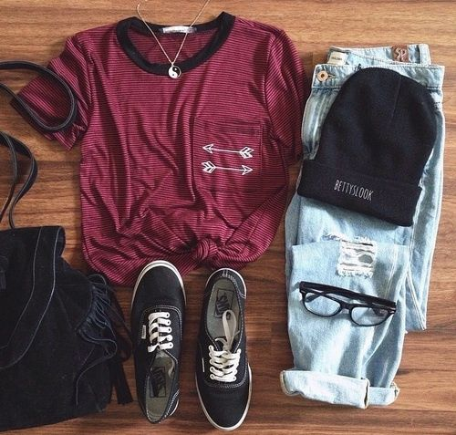 Outfits — outfit for school on a really really cold day ?