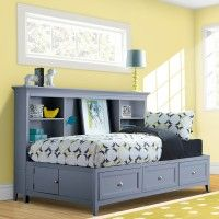 Graylyn Wood Youth Lounge Bed in Steel Drum