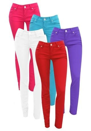 1000  ideas about Color Skinny Jeans on Pinterest | Color jeans ...