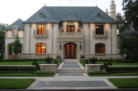 French Provincial homes | ... homes, floor length windows, balcony, france, provincial, country