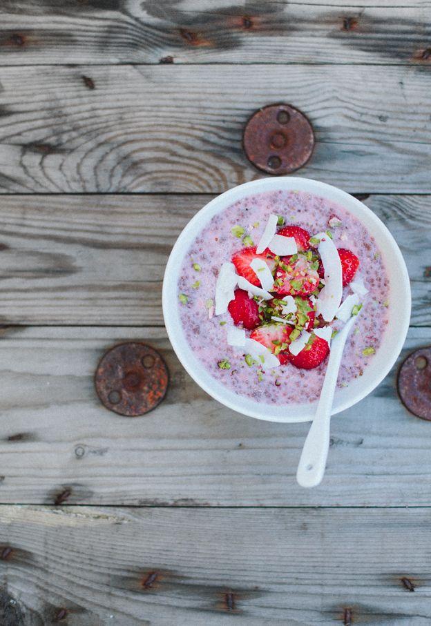 Chia Seed Porridge with Strawberries