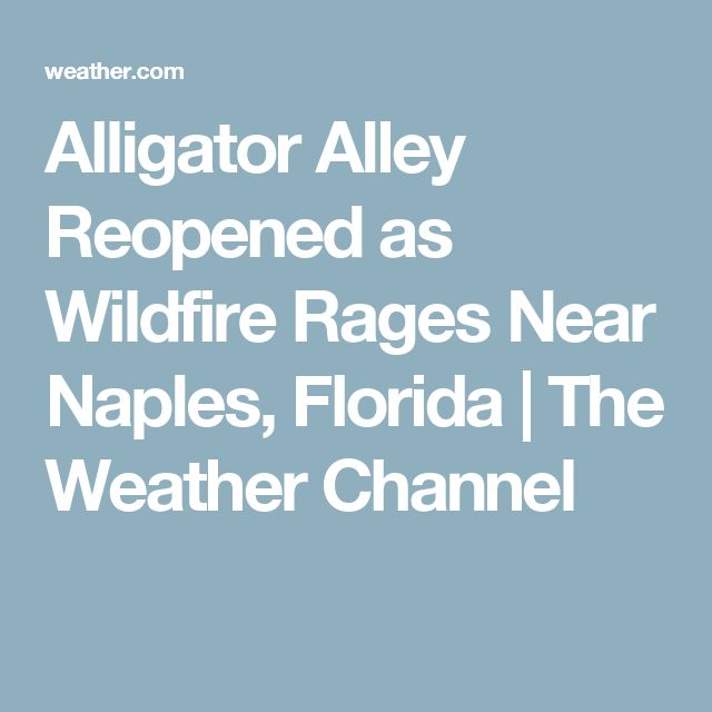 Alligator Alley Reopened as Wildfire Rages Near Naples, Florida | The Weather Channel