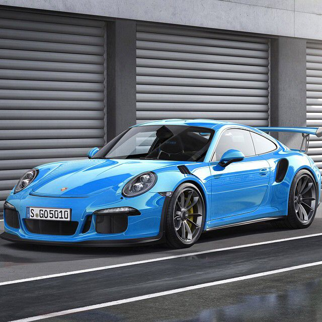 #Porsche GT3 RS in bright blue! #Classic #SportsCar #Speed #Power #Style #Design #Performance