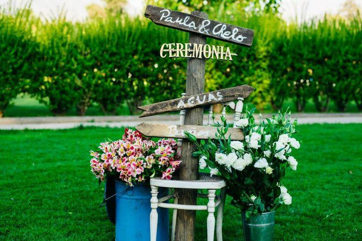 Señalética, matrimonio, ceremonia, flores