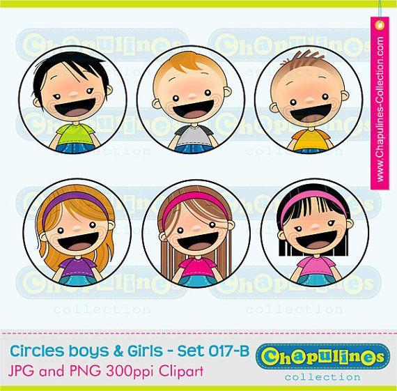 clipart boys   girls  school clipart  kids illustrations Elementary School Clip Art Parents at School Clip Art