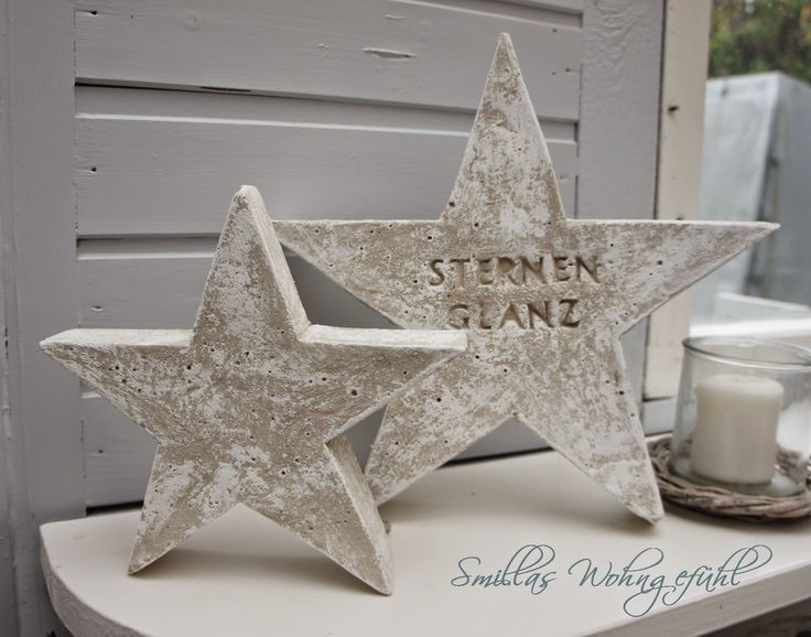 DIY concrete stars / Anleitung für Beton Sterne