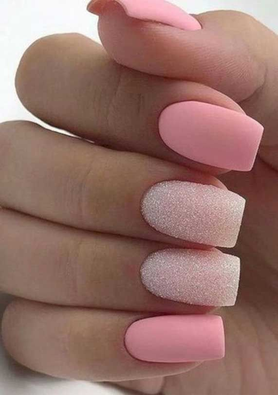 Pin By Starridinggypsy On Nails In 2020 Matte Nails Design Pink Nails Matte Nail Art