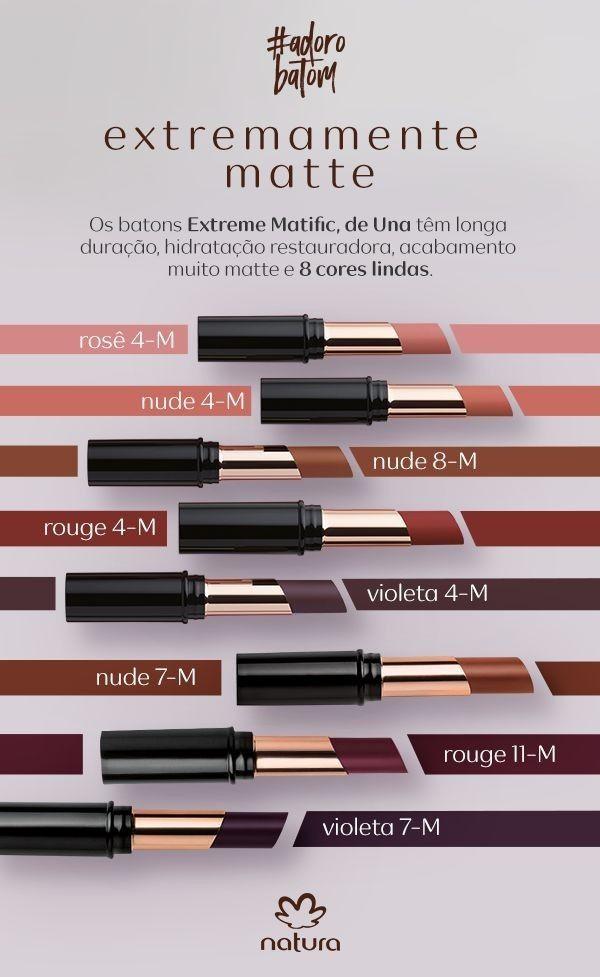 Batom Extreme Matific Con Imagenes Natura Maquillaje Natura