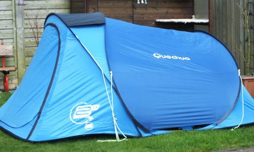 This is a huge four man tent. It takes just 2 seconds to erect (+ pegging out) and 15 seconds to pack away (once you have the knack i.e. brain not brawn). Bomb proof outer skin and breathable inner.