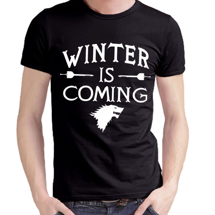 Hip Hop Men Tee Shirt Printed Game of Thrones Winter Is Coming T Shirts Casual Mens Tops Wholesale Man Clothing Free Shipping #gameofthrones