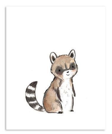 Another great find on #zulily! Raccoon Print by trafalgar's square #zulilyfinds