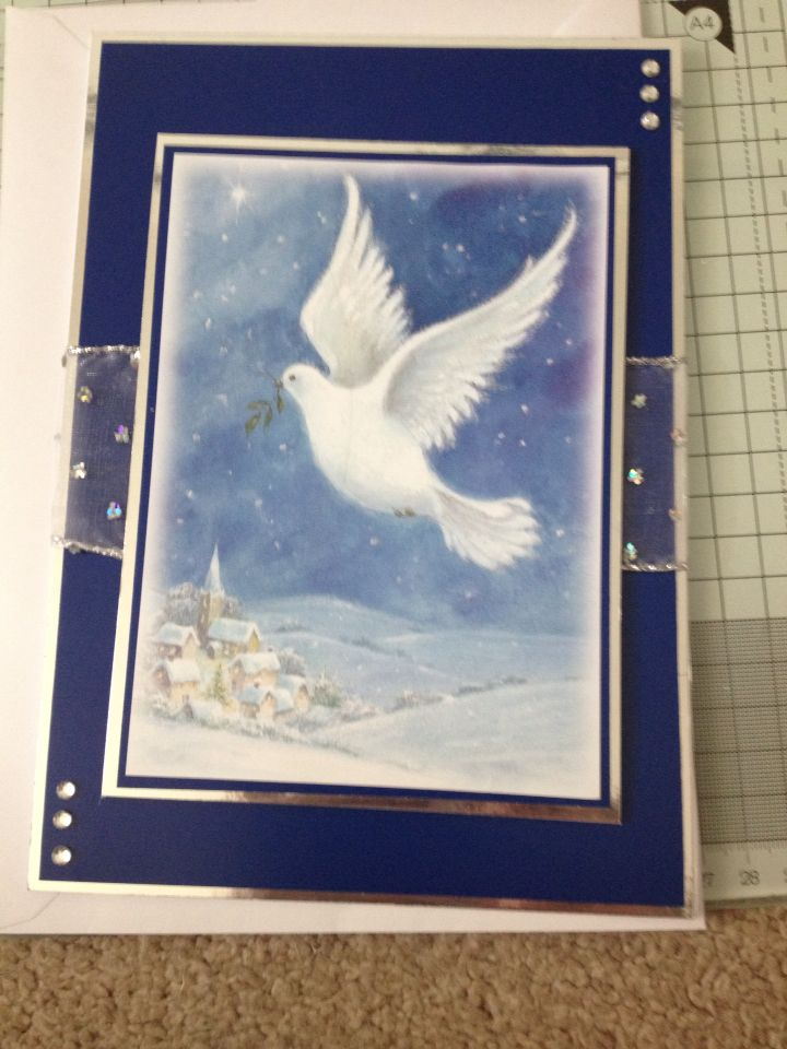 Books On Card Making Part - 37: A5 Christmas Card Using Hunkydoryu0027s Little Book Of Christmas Spirit.