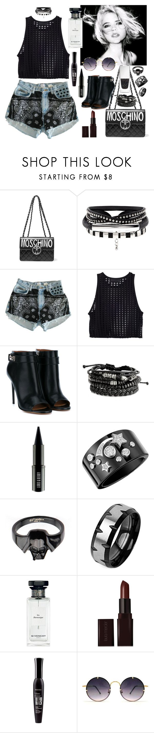 """""""011917B"""" by terebol ❤ liked on Polyvore featuring Moschino, Levi's, Givenchy, Lord & Berry, Chanel, West Coast Jewelry, Laura Mercier, Bourjois and Spitfire"""