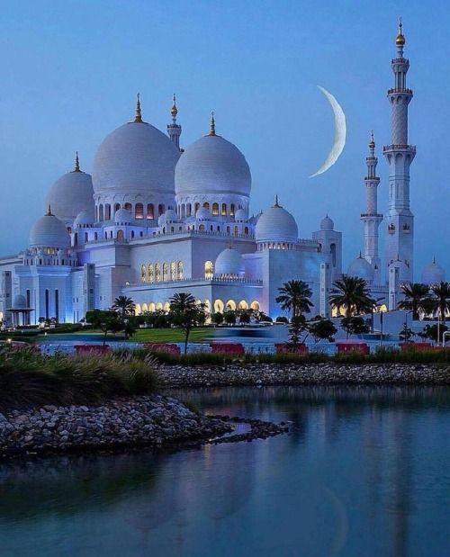 Night at Sheikh Zayed Mosque  Abu Dhabi United Arab Emirates....