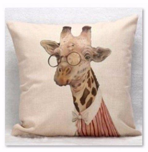 africanartonline.com - Giraffe Cushion Cover, $19.95 FREE Shipping (http://africanartonline.com/giraffe-cushion-cover/)