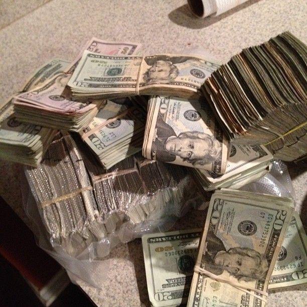 Real Stacks Of Drug Money