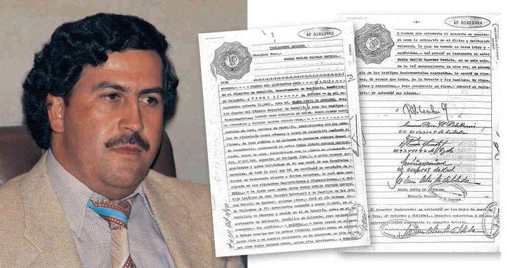 En la Notaría Cuarta de Medellín Escobar consignó su testamento en 1980, en el que le dejaba a su esposa la mitad de su fortuna a su entonces único hijo el 37,5 por ciento; y el 12,5 por ciento restante para sus padres y hermanos. Su hija aún no había nacido.: NAC-TESTAMENTO-1870