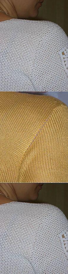 Вязание втачного рукава без шва. Как избавиться от хлопот?