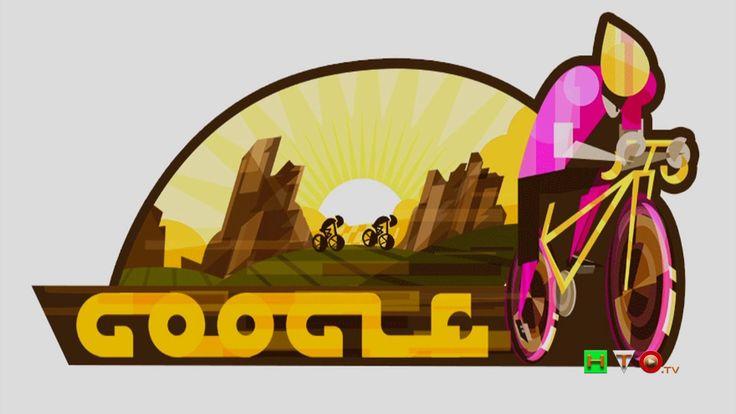 Il doodle di Google per celebrare la 100a edizione del Giro d'Italia - w...