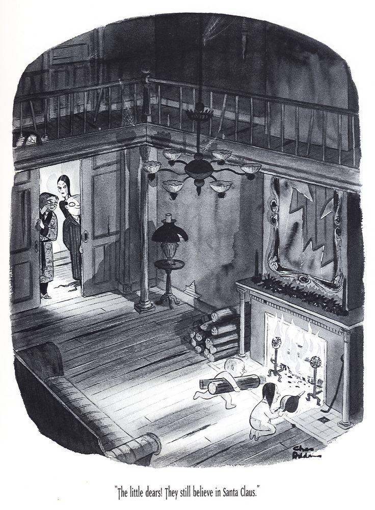 Addams Family (Charles Addams) - Santa Claus