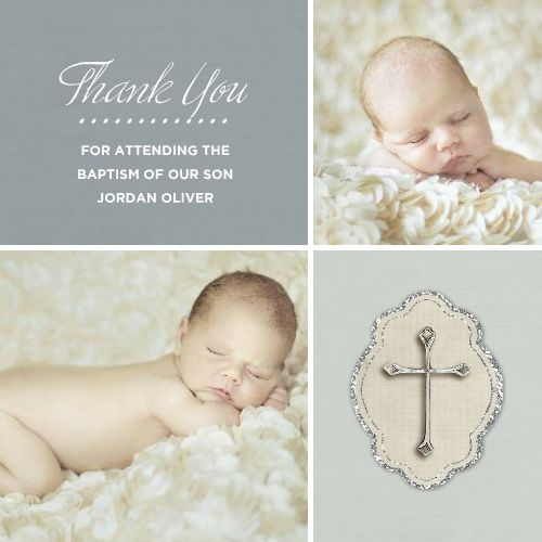 Photo Baptism Thanks Boy Template 120071 By Roxanne