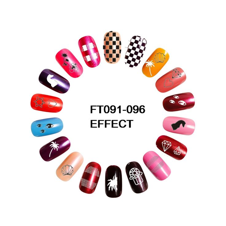 UPRETTEGO 6 PACKS / LOT NAIL ART 3D BACK ADHESIVE DECAL SLIDER STICKER BLACK WHITE EYES PALM TREE DIAMOND CHESS FT091-096 -  Get free shipping. This Online shop provide the information of finest and low cost which integrated super save shipping for UPRETT