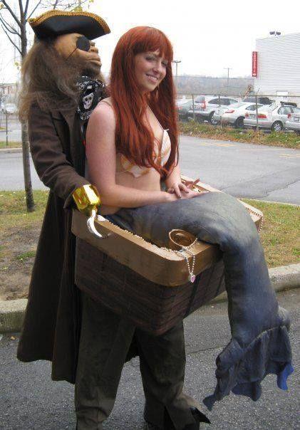 pirate + mermaid costume