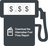Graphic of a fuel pump. Download the Alternative Fuel Price Report.