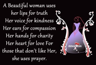 A BEAUTIFUL WOMAN USES HER LIPS FOR TRUTH…