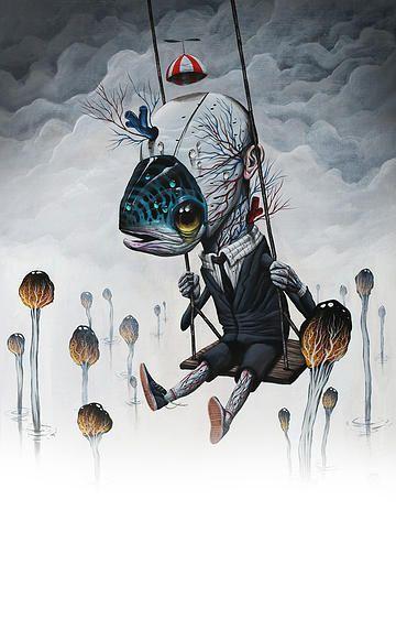 Pop surrealism, surrealism, lowbrow art, new contemporary art: Interview with pop surreal artist Veks Van Hillik